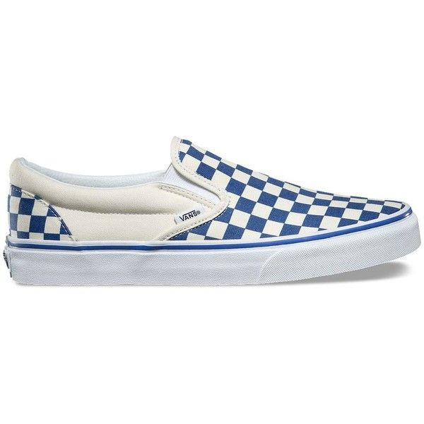 Vans Primary Check Slip-On ($55) ❤ liked on Polyvore featuring men's fashion, men's shoes, multi, mens slipon shoes, mens rubber shoes, mens rubber slip on shoes, vans mens shoes and mens slip on shoes