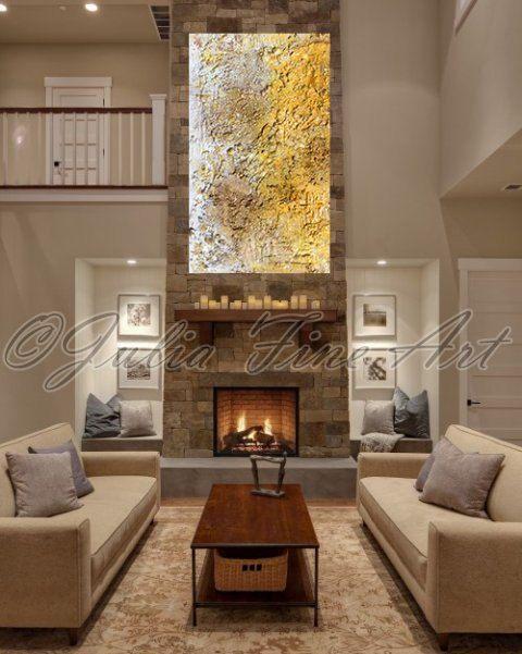 48''x28'' Large Original Mixed Media Rich Texture Painting ''Sweet November'' by Julia Apostolova
