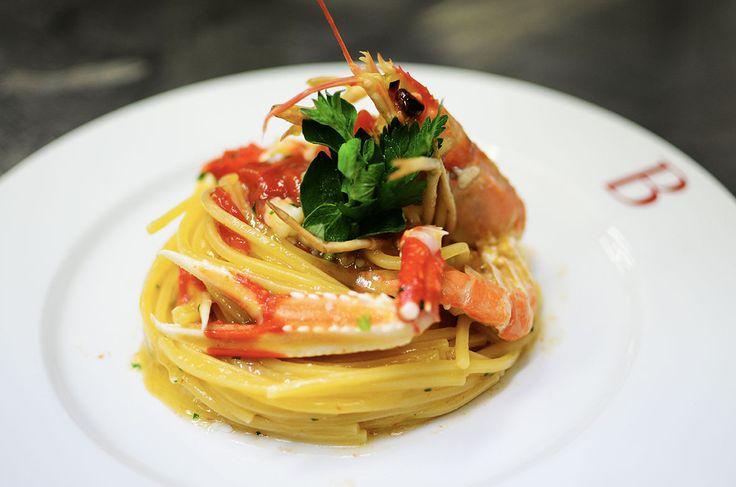 Spaghetti Gragnano con aragosta di Sciacca
