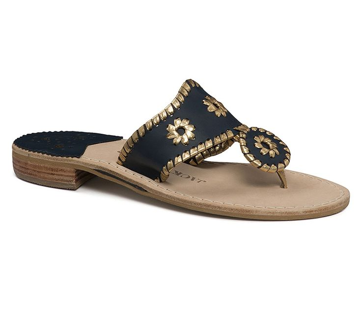 Nantucket Gold Sandal in Midnight and Gold by Jack Rogers - $110.00
