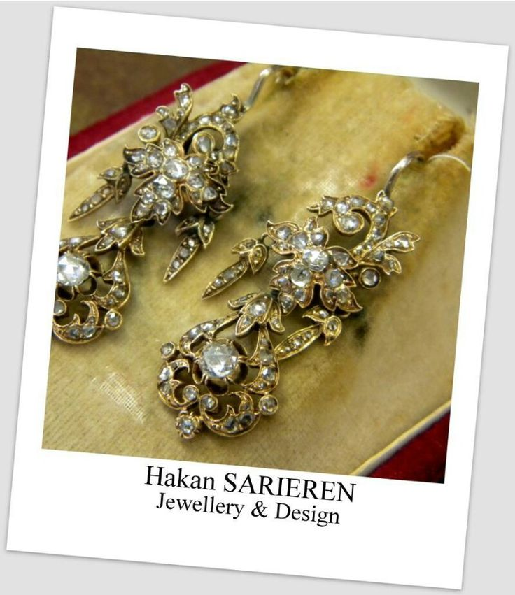 Antique diamond earring