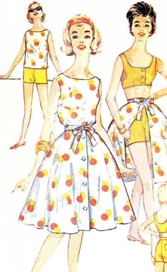 1960s Womens Playsuit Pattern Simplicity 3916 Full by paneenjerez, $28.00