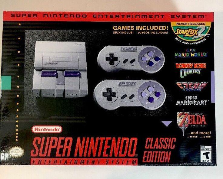 Super Nintendo Entertainment System Super NES Classic Edition SNES BRAND NEW HTF #Nintendo