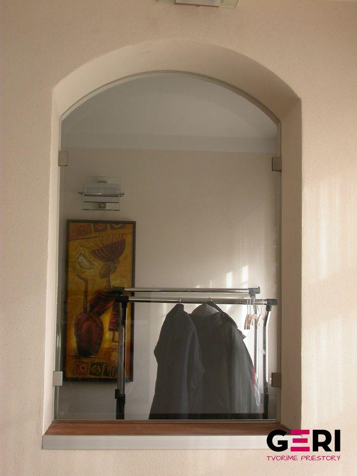Sklenená stena pevná fixná