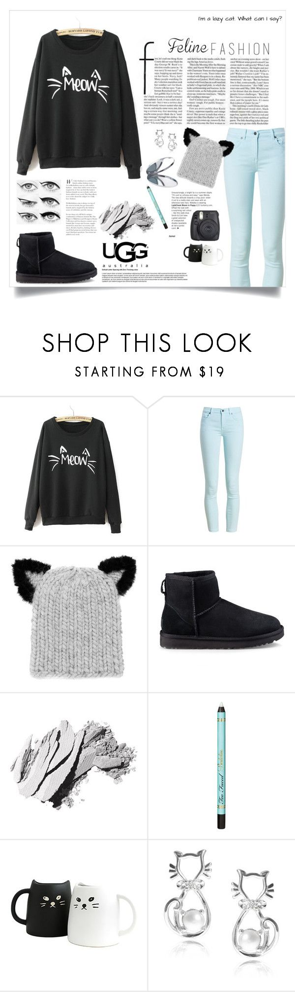 """Feline Fashion. ♡"" by jas-monique217 ❤ liked on Polyvore featuring WithChic, Barbour, Eugenia Kim, UGG, Bobbi Brown Cosmetics, UGG Australia, Eyeko, Journee Collection, Miss Selfridge and Fall"