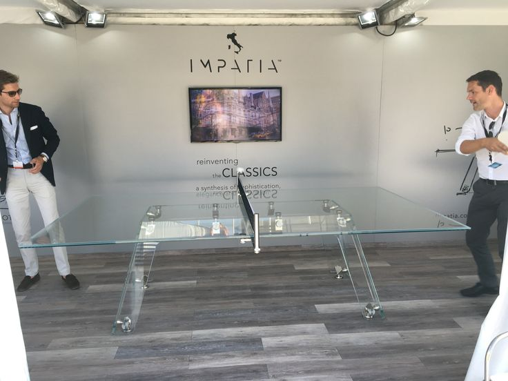 Playing on Lungolinea crystal  ping pong table.   #pingpong #manCave #luxury #furniture #interiors #design #madeInItaly #style #gameTable