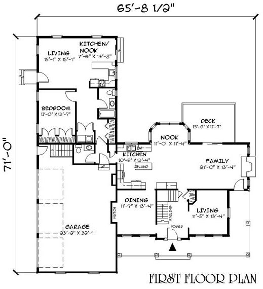 House Plan Id Chp 27933 Inlaw Suite