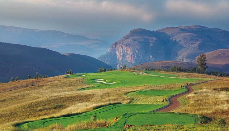 4th hole, Highland Gate GC, Dullstroom, South-Africa - Ernie Els designed.