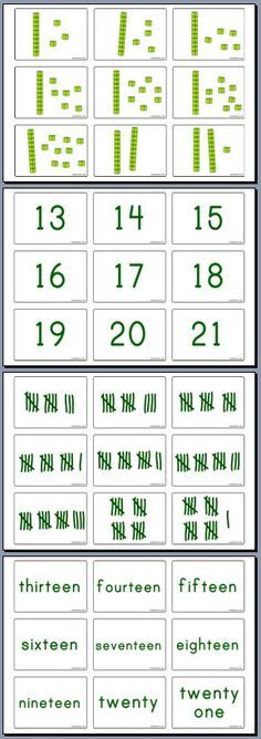 A useful st of 72 number cards - showing Place Value, Numerals, Written Numbers and Tally marks. Great for sorting and ordering games | www.mathsticks.com