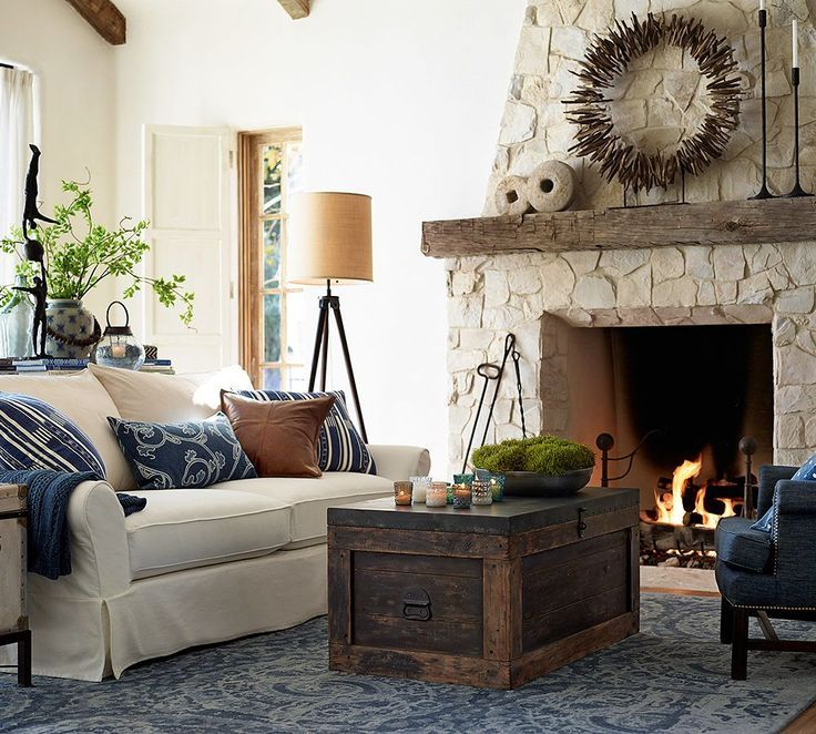Rooms To Love Indigo Dream Pottery Barn Living Room Cottage Style Living Room Home Decor