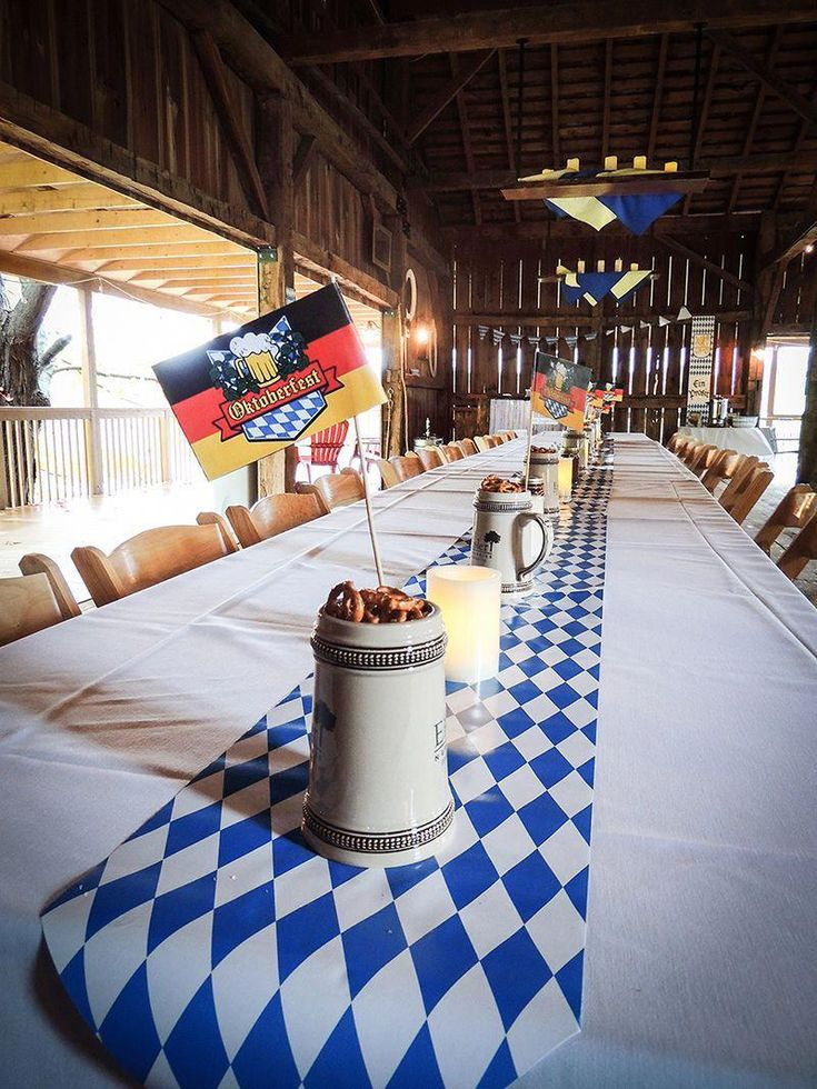 Oktoberfest at Pinehall at Eisler Farms Beer Stein and Pretzel Centerpieces #Wan…
