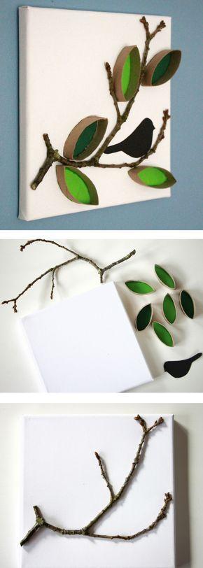 Basteln mit Klopapierrollen: Dieses Toilettenpapierrollenbild ist eine kreative Basis …