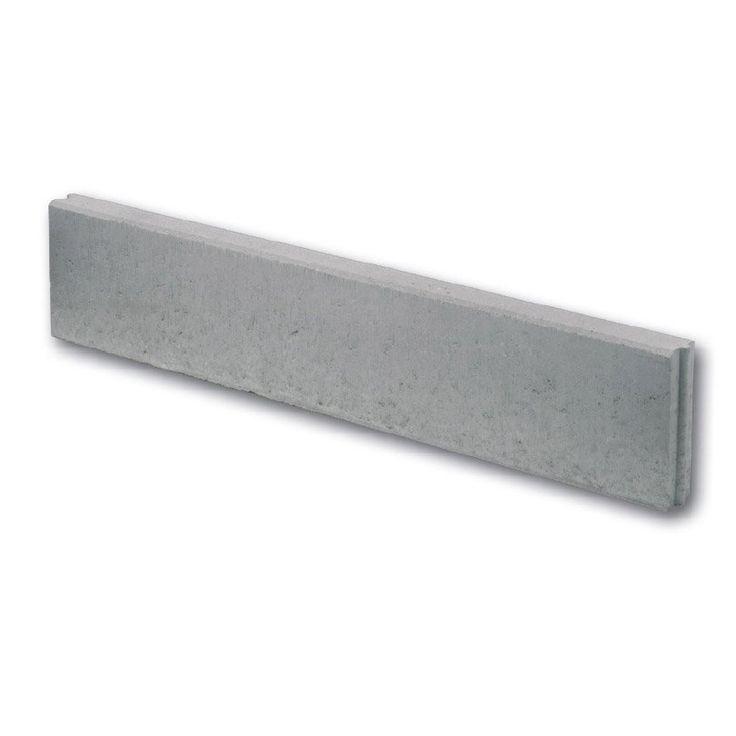 bordure droite p2 b ton gris h 20 x l 100 cm leroy. Black Bedroom Furniture Sets. Home Design Ideas