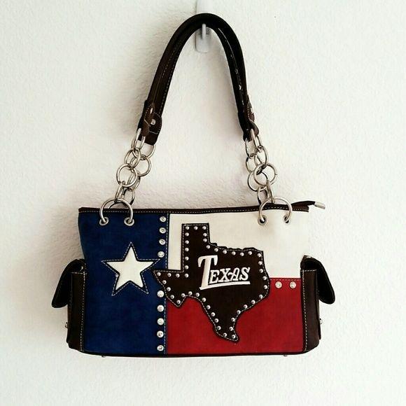 """Texas"" Concealed & Carry Purse Brand new, with tags, Texas handbag. Measurement: 14""(L) x 8.5""(H) x 4.5""(W). Zipper Closure. Double Shoulder Straps. Dual End Pockets.  Back Gun Compartment Bags"