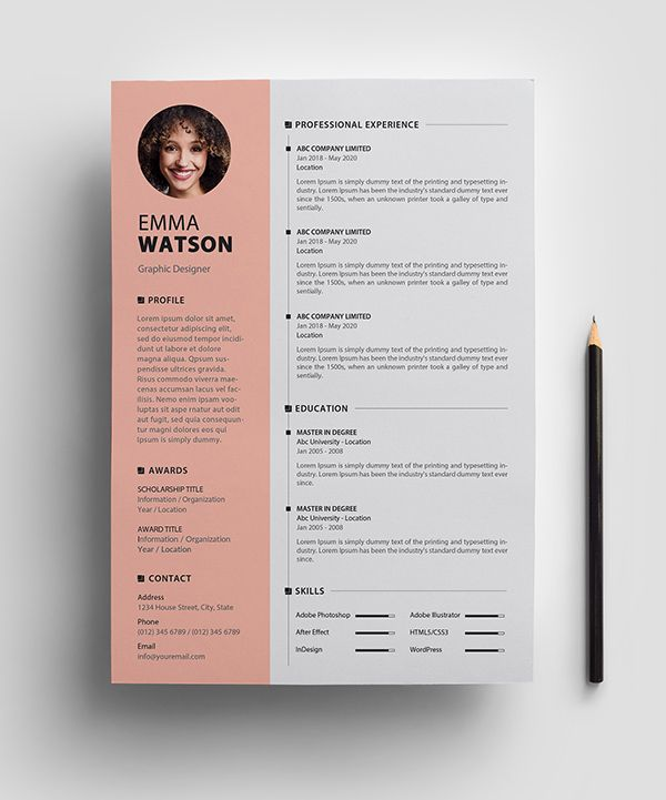 Free Resume Template Psd Easy To Use And Customizable Best Free Resume Templates Downloadable Resume Template Resume Design Template Free