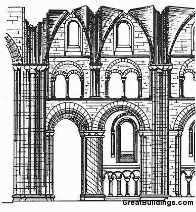 Даремский собор, фрагмент интерьера