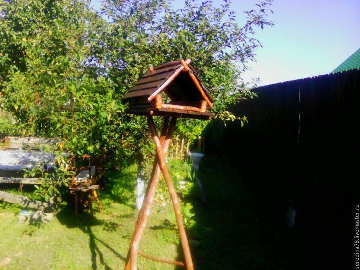 Купить Кормушка для птиц. - коричневый, кормушка для птиц, кормушка деревянная, ландшафтный дизайн, натуральные материалы