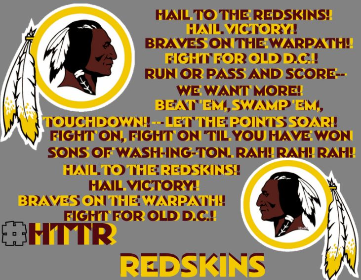 Hail to the redskins!