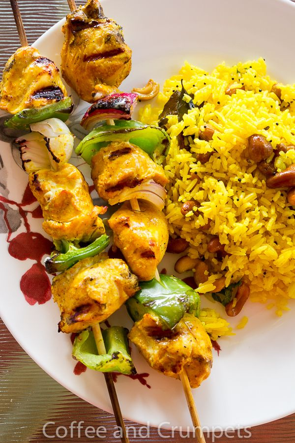 Chicken Kebab | Chicken Kebabs and Lemon Rice
