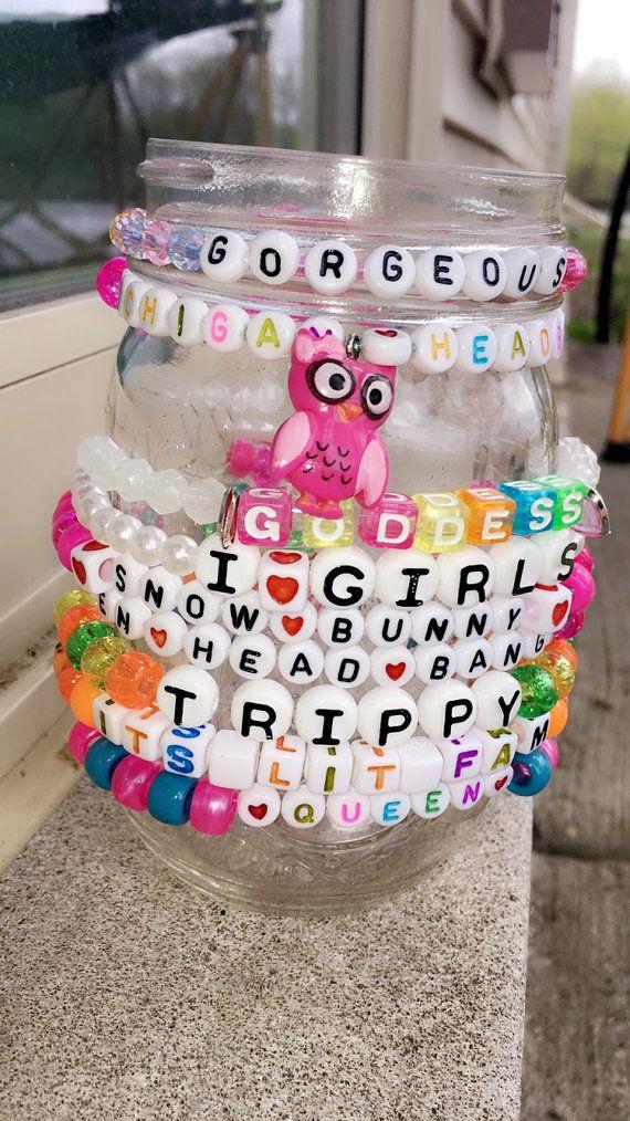 10 Kandi Bracelets-Custom by Amandamaetucker on Etsy
