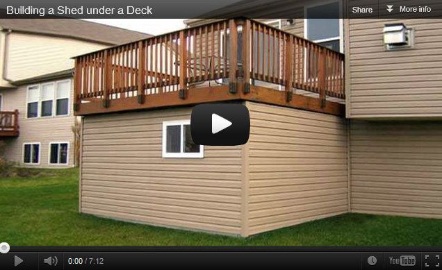 Under deck storage ideas finally shot a video of my shed for Garage under deck
