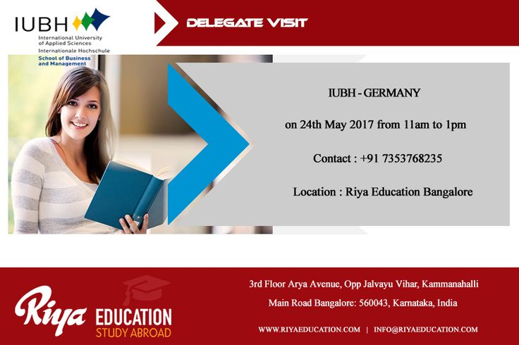 """IUBH, Germany Delegate Visit at Riya Education Bangalore on 24th May 2017. """"Study in the private, state-recognised university of business and management"""" Meet the delegate Mr.Jens Heidorn for Spot Admission. Visit our website http://riyaeducation.com/ #studyingermany #studyabroad"""