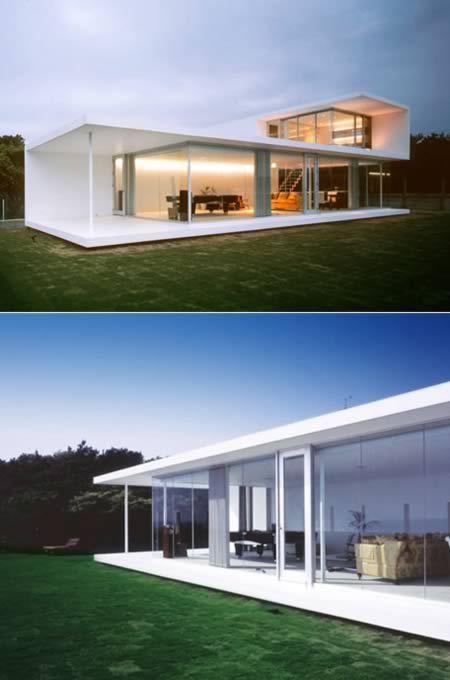 A casa acima está localizada na cidade de Chiba (Japão)