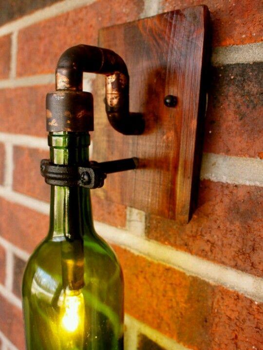 Copper light lamps pinterest lights lamp ideas and for Wine cellar lighting ideas