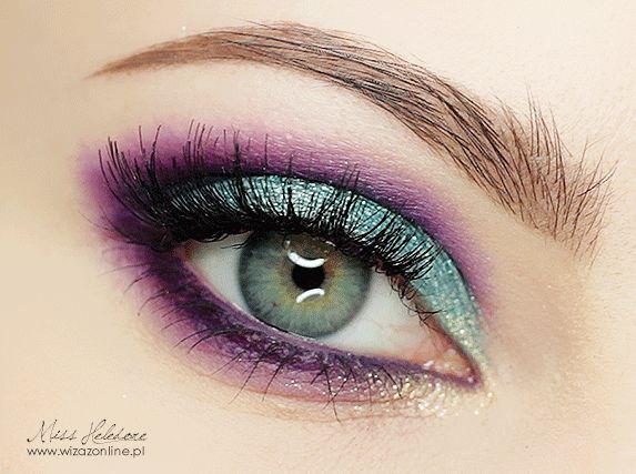Purple & Turqoise Makeup