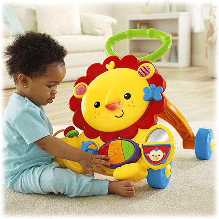 LEO IL LEONE PRIMI PASSI è perfetto per stimolare il bambino a mantenere una posizione eretta e muovere i primi passi mentre esplora le sue nuove capacità fisiche.