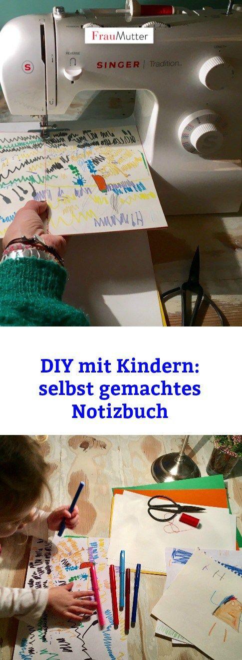 Last Minute Weihnachtsgeschenk: Unser einfaches und schnelles DIY für ein selbst gemachtes Notizbuch. Oma und Opa freuen sich garantiert! #weihnachten #weihnachtsgeschenk #geschenk #selbstgemacht #diy #kinder #basteln