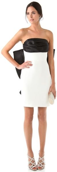 NOTTE BY MARCHESA Strapless Dress with Back Bow - Lyst