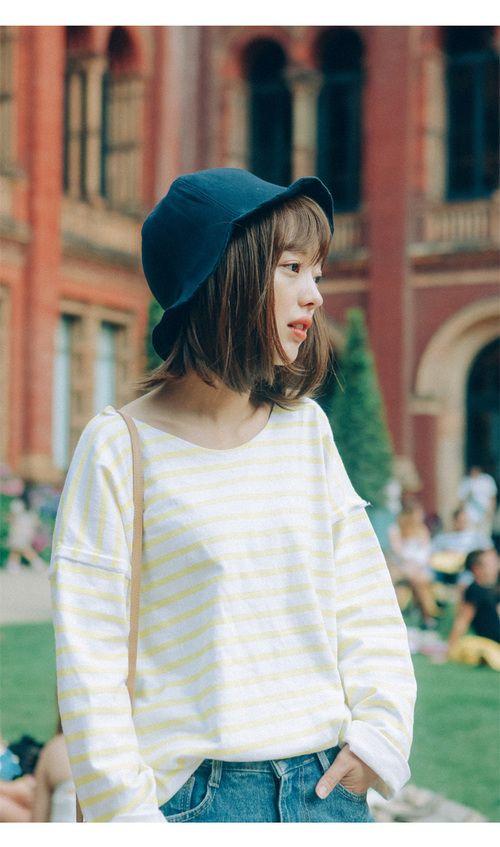 asian girl, hair, and korean girl image