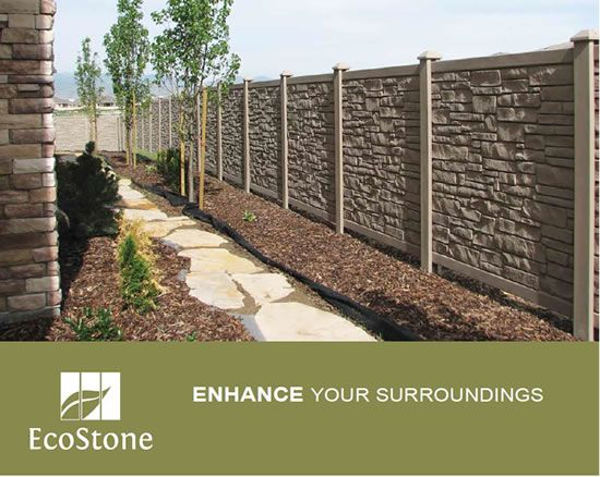 Stone Look™ Privacy Fence by SimTek™ Patio landscaping