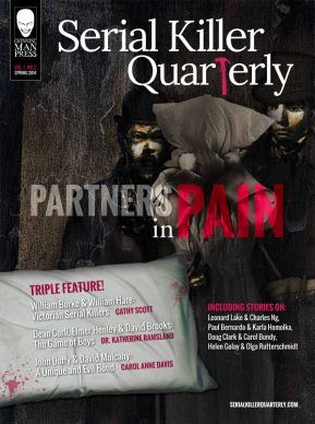 """Serial Killer Quarterly, Issue #2 """"Partners in Pain"""" is officially out!  78 Pages of Murder and Mayhem! ✦ Subscribe today! http://www.serialkillerquarterly.com/"""