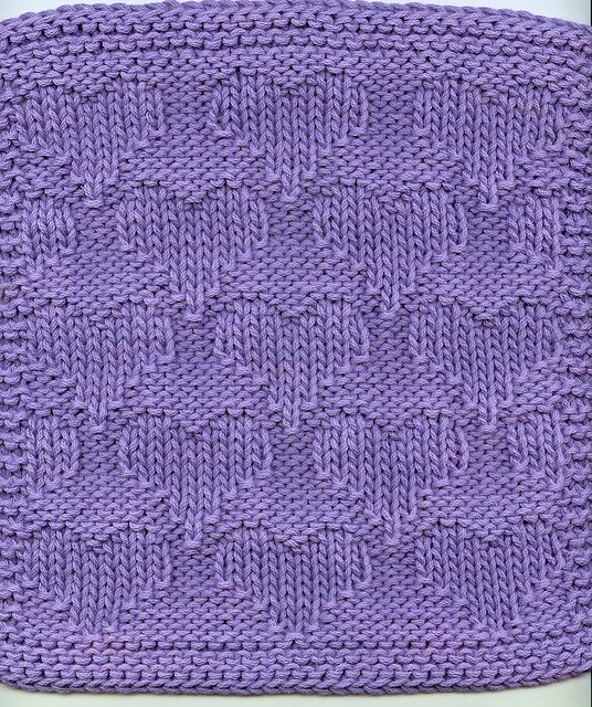 Valentine's Heart knit dishcloth  http://www.knittingonthenet.com/patterns/clothheart2.htm