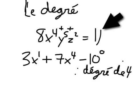 Mathématique - polynome et monome