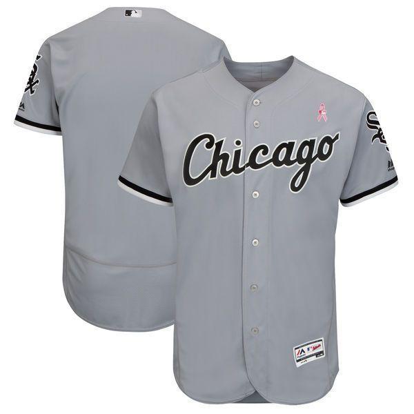 best service 2d638 e3264 Men Chicago White Sox Blank Grey Mothers Edition MLB Jerseys ...