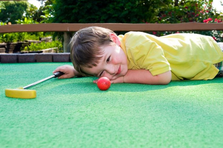 Kids love putt putts designed and built by Mini-Golf-Creations