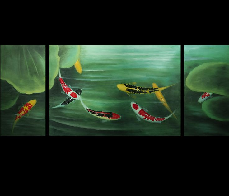 16 best koi fish paintings images on pinterest fish for Koi fish paintings prints