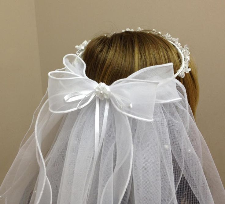 I'm picturing the back bow, streamers (or whatever) attached like this... but with a simpler bow and what's hanging down not as full.