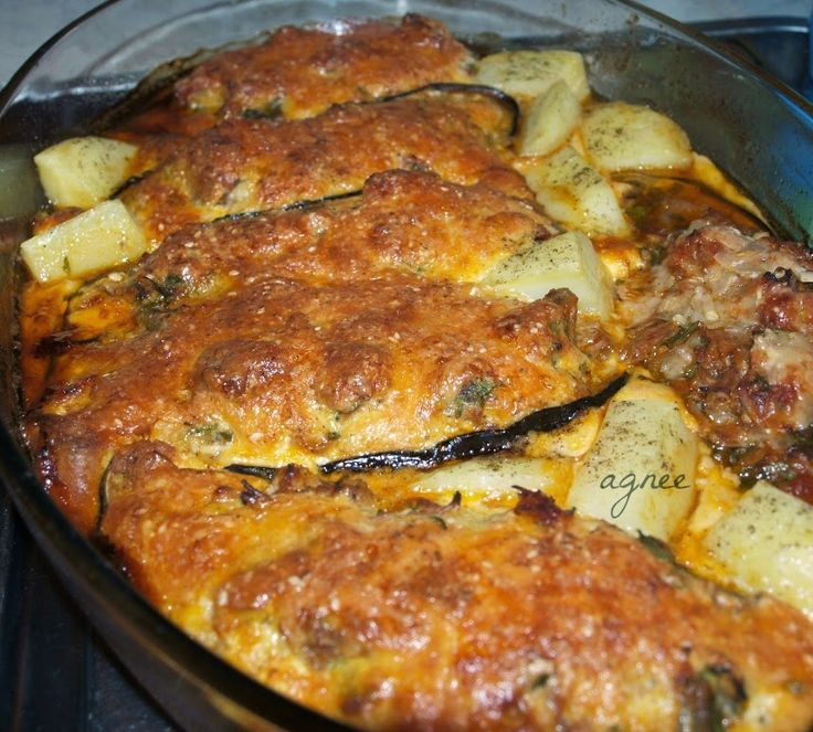 Ágni görög konyhája: Töltött padlizsánszeletek sütőben (Μελιτζάνες παπουτσάκια)