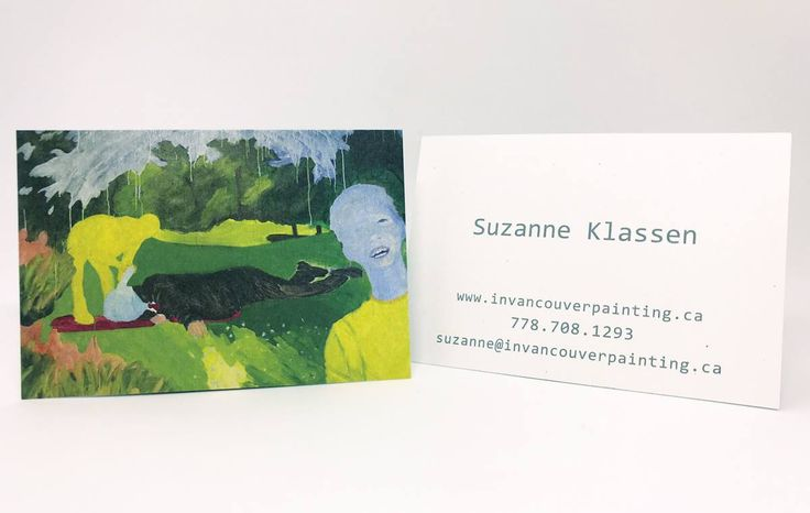 #Uncoated card stock is the perfect medium for reproducing #paintings and original artwork, preserving an authentic feeling. These cards from Suzanne Klassen demonstrate her #colourful and thought-provoking #artwork. www.invancouverpainting.ca