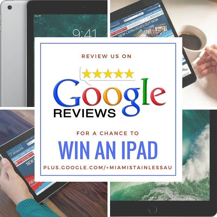 Review us on Google and go into the draw to win an iPad. Link in Profile.  #win #stainlesssteel #ipad drawn 30/6/17 entries must have purchased Miami Stainless products conditions apply.
