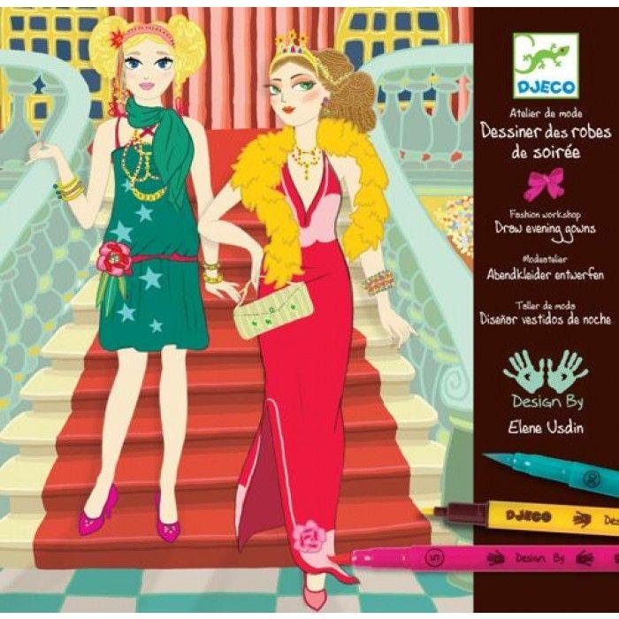 Designing Evening Gowns Fashion Art Kit | Djeco | DJ08732