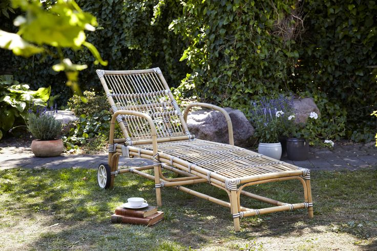 """""""Josephine sunbed"""" is very cozy and relaxing to have in your garden when you come home from a long day and all you need is to enjoy a cup of tea and the birds singing outside!"""