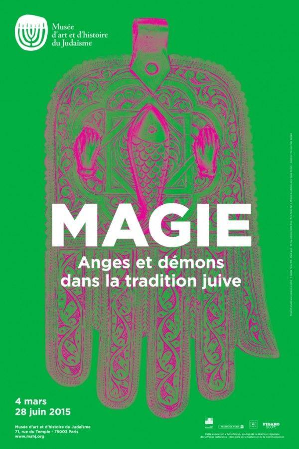 Magie : Anges et démons dans la tradition juive au Musée d'Art et d'Histoire du Judaïsme : Affiche.