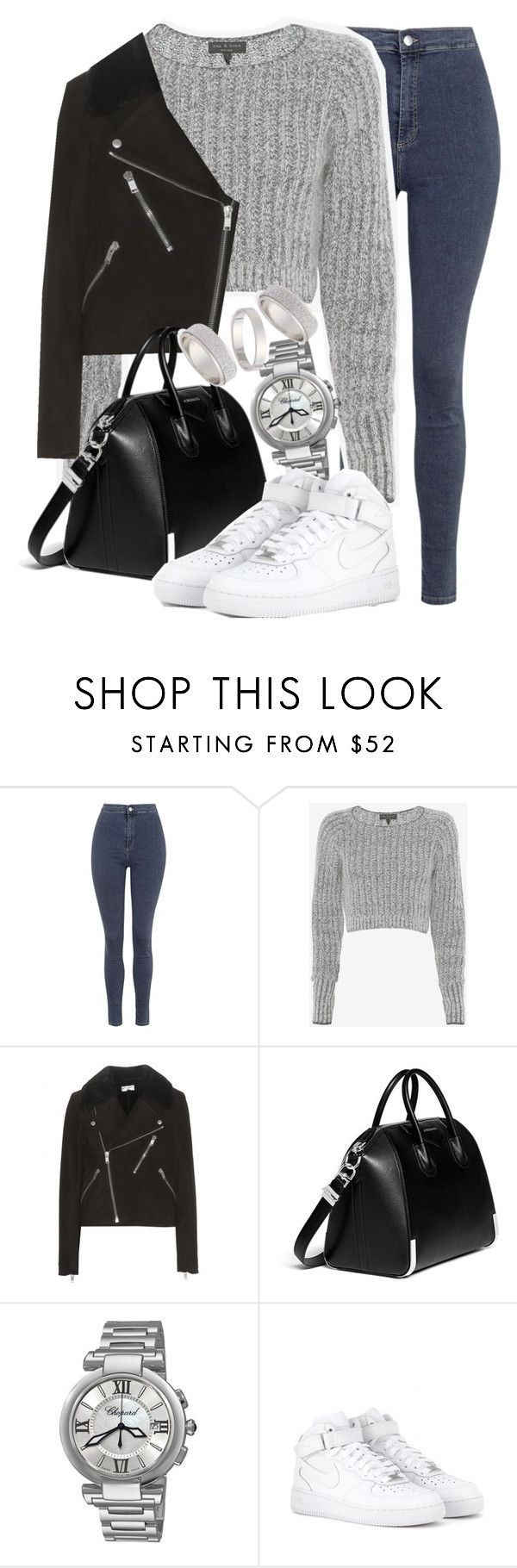 """Untitled #2174"" by do-the-calder ❤ liked on Polyvore featuring Topshop, rag & bone, Yves Saint Laurent, Givenchy, Chopard, NIKE, women's clothing, women, female and woman"