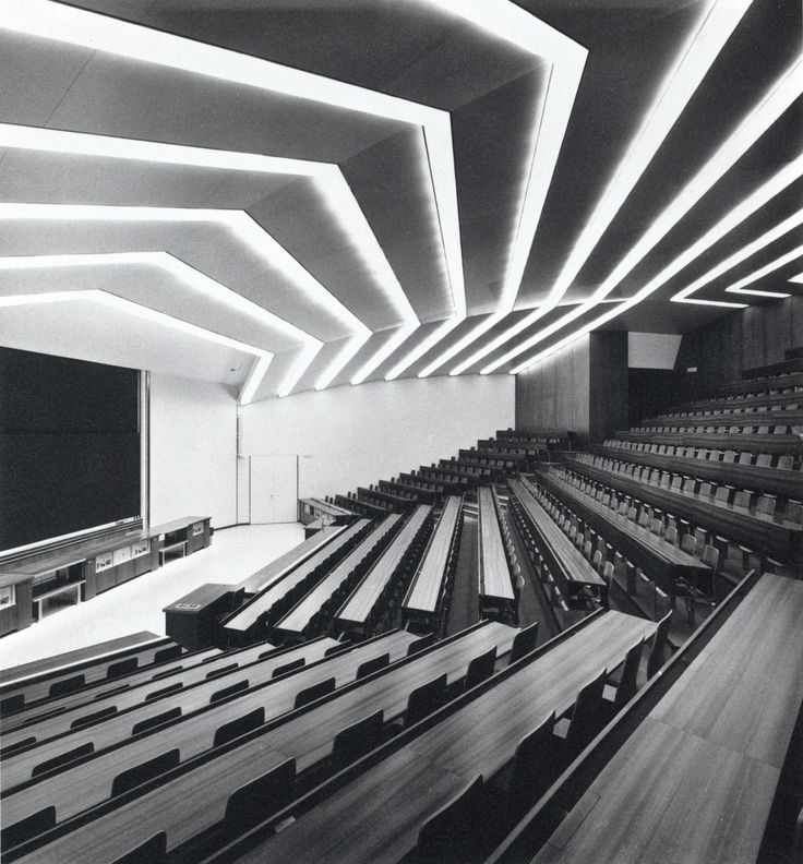rudygodinez:  Unknown Architect, University Lecture Hall Designed For Experiments, Department of Physics, University of Hönggerberg, (1973)