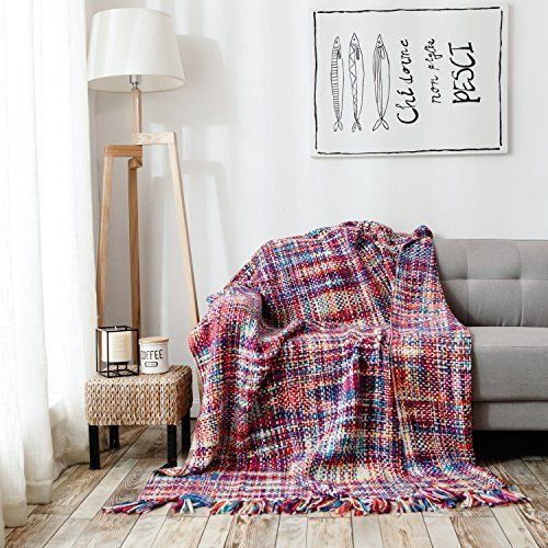 Chic Boho Blanket Fashion Throw Fashion Women Girl Tassel Soft Red Sofa 60x70 In #HollyHOME #Country